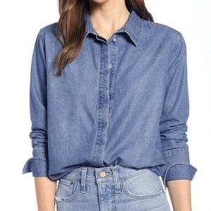 Something Navy for Nordstrom Denim Button Down